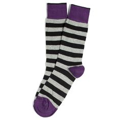 ETIQUETTE CLOTHIERS  Rugby Stripes Socks - Tux Black BEST SOCKS EVER