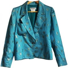 9c2b0aed Turquoise Polyester Jacket. Turquoise polyester jacket Yves Saint Laurent  Turquoise size 42 FR ...