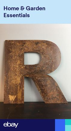 M Rusted Lettering Letters Sign Metal Shop Front 12inch Vintage CARNIVAL CIRCUS