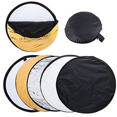 Amazon.com : Nulink™ 80cm 32in 5 in 1 Portable Photography Studio Mutiple Photo Collapsible Disc Light Lightning Reflector with Carrying Bag Kit [Black, White, Gold, Silver and Translucent] : Camera & Photo