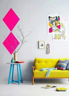 Flashy home interior colors