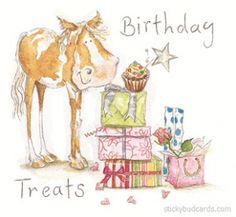 Pony Birthday Card,Horse Greetings,Horse Birthday,Birthday card with horses