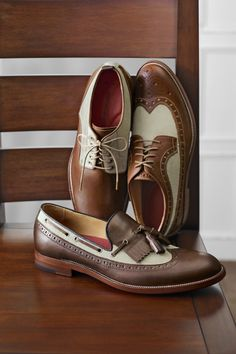 The Clayton Collection - johnstonmurphy Boat Shoes, Men's Shoes, Shoe Boots, Dress Shoes, Male Shoes, Sharp Dressed Man, Well Dressed Men, Mens Shirt And Tie, 50s Style Clothing