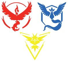 Pokemon Go Team Decals, Pokemon Go sticker, Car decal, Computer decal, Water bottle decal, Tablet & iPad Decal by ImagineSix on Etsy https://www.etsy.com/listing/453094428/pokemon-go-team-decals-pokemon-go