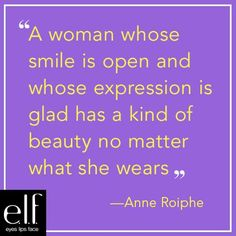 """Beauty School by e.l.f. is in session! For the next few weeks we'll be educating you with beauty secrets from some of history's most beautiful people.  First up, we have Anne Roiphe, a best-selling author and journalist from New York City, who the NY Times described as, """"a writer who has never toed a party line, feminist or otherwise."""" Here's what she has to say! #elfbeautyschool"""