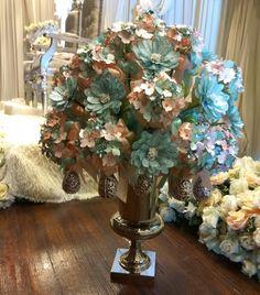 Bunga pahar dip hydrengea & daisy. Exclusive from Shajaratul.