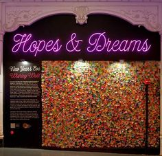 Write your hopes & dreams, and they'll be among millions of pieces of confetti dropped at the stroke of midnight on New Year's Eve...loved this!