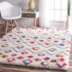 nuLOOM Bohemian Inspired Moroccan Trellis Vibrant Diamond Shag Rug (8' x 10') | Overstock.com Shopping - The Best Deals on 7x9 - 10x14 Rugs