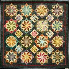 """Eldon"" by Joan Knight, pieced by Leslie Kiger. 2011 Machine Quilting show award"
