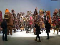 Nick Cave at Mary Boone Gallery  photo by Aileen Abercrombie