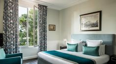 Chambre Deluxe | Hôtel Le Pigonnet Aix En Provence, Heated Pool, Restaurant, Curtains, Room, Home Decor, King Size Mattress, Big Closets, Couple Room