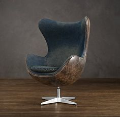 Like the combo of blue and brown. Restoration Hardware - Copenhagen Chair Denim