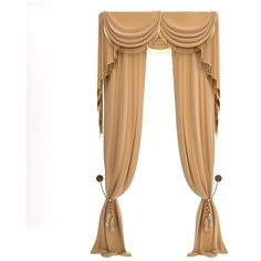 Classical Curtain 3D Model ($27) ❤ liked on Polyvore