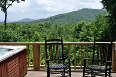 Beary Sweet- Relax in the hot tub and enjoy an incredible mountain view! http://cuddleupcabinrentals.com/CabinDetailGallery.php?CabinID=90%3E