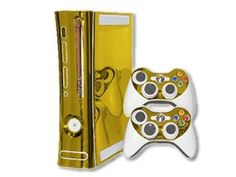 Xbox 360 Skin - NEW - GOLD CHROME MIRROR system skins faceplate decal mod 4