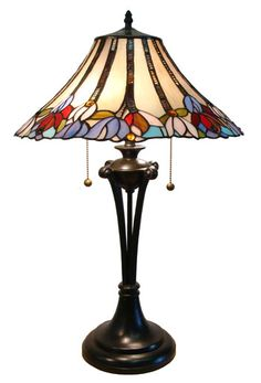Fine Art Lighting Ltd. - Tiffany X With Vintage Bronze Base And Multi Coloured Glass Shade Table Lamp - Rona Brown Table Lamps, Table Lamp Sets, Fine Art Lighting, Home Lighting, Kings Table, Tiffany Table Lamps, Stained Glass Lamps, Colored Glass, Glass Shades