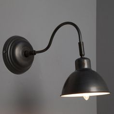 Applique Delia, 1x40W, métal gris, INSPIRE