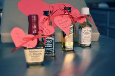 """i was thinking about the ladies out there who want to give their man a Valentine's themed gift but don't want it to be too """"girly."""" i thought of what i would gift Joey and was inspired by his new-found love of Old Fashioneds (bourbon drink) and my obsession with nips (little liquor bottles – [...]"""