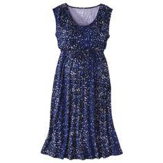 Liz Lange® for Target® Maternity Sleeveless Inner-Tie Dress - Purple/Blue