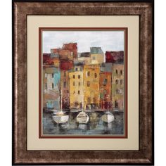 FREE SHIPPING! Shop Wayfair for Propac Images Old Town Port 2 Piece Framed Painting Print Set - Great Deals on all Decor products with the best selection to choose from!