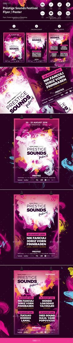 Prestige Sounds Festival Flyer / Poster - Clubs & Parties Events