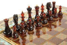 """Шахматы-нарды """"Поло"""" , арт. 0015907 - купить Янтарные шахматы и нарды в магазине подарков РУСЬ ВЕЛИКАЯ"""