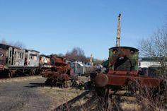 Train Graveyard, NE Enlgand.  - http://earth66.com/train-graveyard-enlgand/