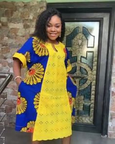 Short African Dresses, Latest African Fashion Dresses, African Print Dresses, African Print Fashion, Women's Fashion Dresses, Ankara Fashion, Africa Fashion, African Prints, African Fabric