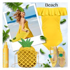 """""""Beach Style"""" by shoaleh-nia ❤ liked on Polyvore featuring Clinique and Talbots"""