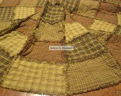 homespun country patterns | Christmas Tree Skirt Pattern Primit ive Rag Quilt ...