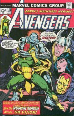 Human Torch - Ultron - Marvel Comics Group - 25 Cents - 135 May