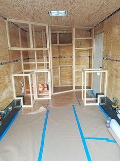 Install Bathroom In Enclosed Trailer . Install Bathroom In Enclosed Trailer . Installing An Rv Window In Your Cargo Trailer Enclosed Trailer Camper, Cargo Trailer Camper Conversion, Toy Hauler Camper, Diy Camper Trailer, Truck Camper, Trailer Storage, Work Trailer, Trailer Build, Motorhome