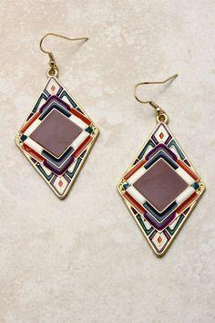 Ladell Ikat Earrings on Emma Stine Limited