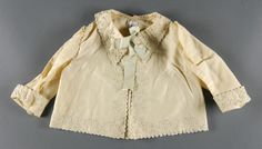 Philadelphia Museum of Art - Collections Object : Infant's Sacque c. 1897  Medium: White wool flannel with embroidery