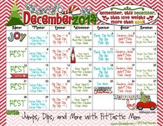 Quick at home fitness challenge for December - see how long you can go the first time through and then strive to do more the next time.