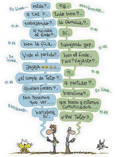 #nik #gaturro Funny Spanish Memes, Spanish Humor, Teaching Spanish, Infographic, Education, Phrases, Teaching Ideas, Mexican, Posters