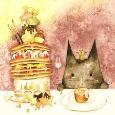 cat and cake