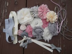 Headband Station (Instead of the usual onesies). Kits available $25.00, via Etsy.