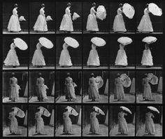 Animal Locomotion: Plate 38 (Woman Opening Parasol), by Eadweard Muybridge