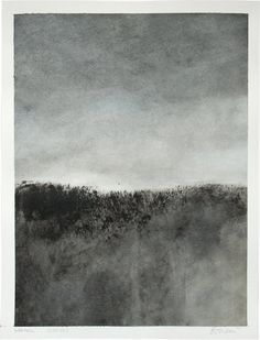 Original gouache painting abstract italian landscape. €150.00, via Etsy.