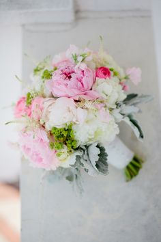 Pink and White Peony Bouquet | photography by http://www.ampersandphoto.com/