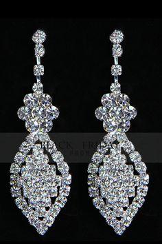 Gorgeous Silver Color Zircon Ladies' Earrings