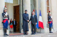 President Buhari & President Francois Hollande meet at Élysée Palace
