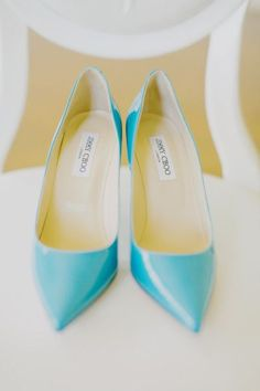 Aqua. Jimmy Choo. Photography by Milou Olin Photography / milouandolin.com/, Event Planning by Dream A Little Dream Events / dreamalittledreamevents.com, Floral Design by Natalie Bowen Designs / nataliebowendesigns.com