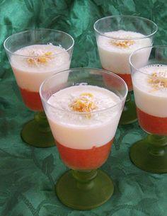 Photo de la recette : Panna cotta coco pamplemousse