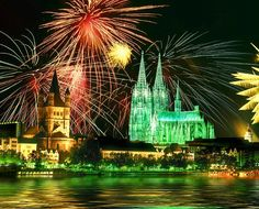 Koln Cathedral, Koln, Germany. I visited during the day. I bet it would be wonderful to see it with fireworks.