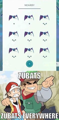 Zubats, Zubats, Everywhere  #pokemon go