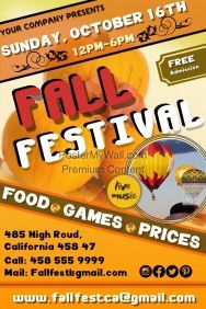Fall Event Flyer Template  Postermywall  Event Poster Templates