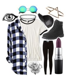 """""""Untitled #58"""" by iust1na23 on Polyvore featuring American Eagle Outfitters, H&M, Timberland and MAC Cosmetics"""