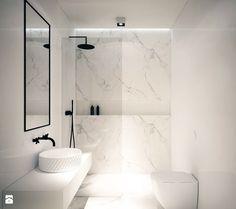 Mieszkanie Na Zabłociu - Mała średnia łazienka w bloku w domu jednorodzinnym bez okna, styl minimalistyczny - zdjęcie od Ogrody i Wnętrza